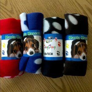4 Dog Fleece Blankets